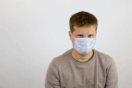 Bad mood due to the forced wearing of maxi on the face against infection with viruses