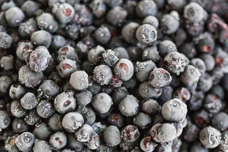 Berries of frozen blueberries, close-up. Healthy nutrition, diet 写真素材