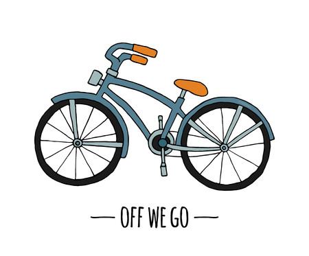 Vector retro transport icon. Vector illustration of bike isolated on white background. Cartoon style illustration of old means of transport Vectores