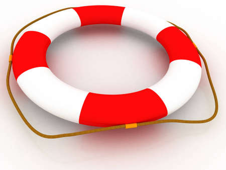 white life preserver circle text Stock Photo - 8962556