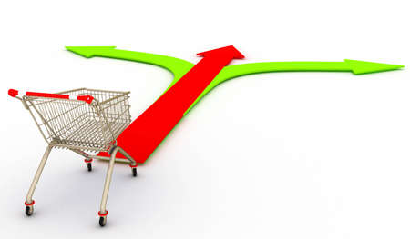 Shopping cart with choice Stock Photo - 9627923