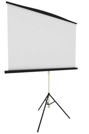 Blank portable projector screen photo