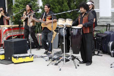 instrumental: Gelendzhik, Russia, 4 june 2011.  Mexican group of instrumental music.