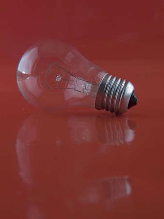 watt: 40 watt lamp on the red background