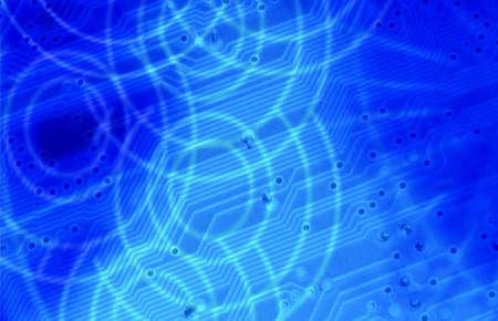 transistor: Los t�rminos de tecnolog�a de color azul detalles transistor condensador de soldadura  Foto de archivo