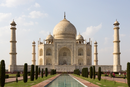 taj: Taj mahal , A famous historical monument, A monument of love, the Greatest White marble tomb in India, Agra, Uttar Pradesh Stock Photo