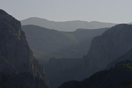 paklenica: Hilltops of national park Paklenica