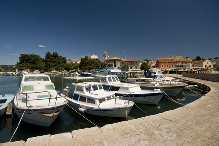 fishing pier: Fishing boats in the port of Sv.Filip and Jakov