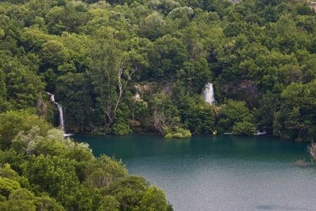 Brkljansko lake with the waterfall  photo