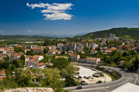 View on town Pazin, the administrative capital of Istria. Stock Photo - 10521558