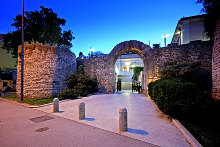 1st century: Gate of Hercules in Pula, Istria, dates from the 1st century. Stock Photo