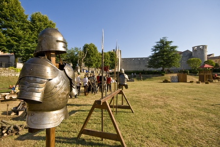 Knight`s shining armour in medival tournament in Svetvincenat