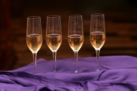 winetasting: Crystal glasses with champagne