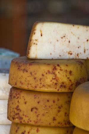 Yellow and white cheese photo