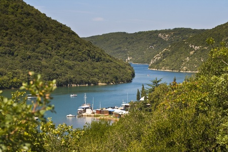 The lim fjord with fishing boats photo