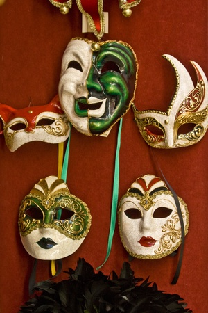 Beautiful Venetian masks photo