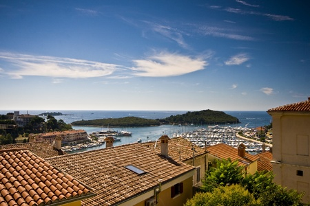 View on Vrsar roofs and islands photo