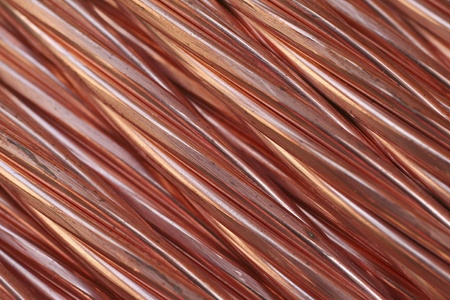 braided flexible: Copper cable texture Stock Photo