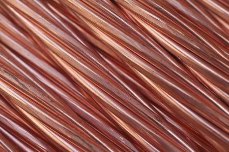conductivity: Copper cable texture Stock Photo