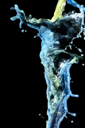 transcendent: Water in blue living in the air Stock Photo