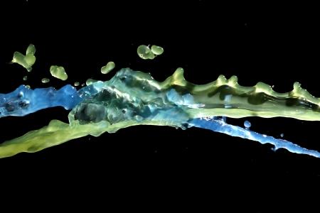 transcendent: Streams of blue water running through green