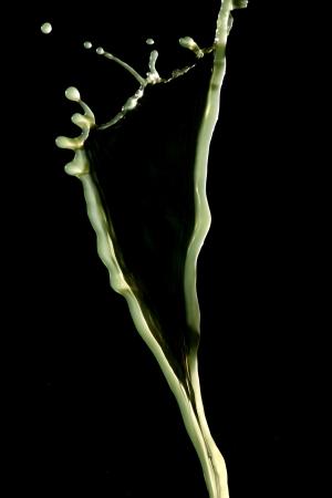 transcendent: Green water forming a leaf