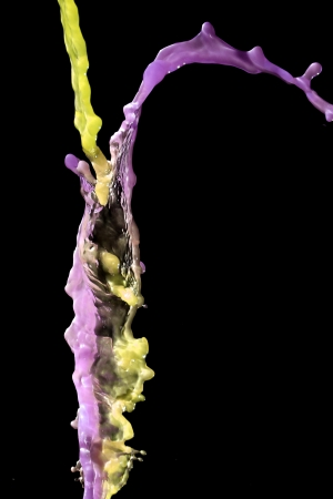 transcendent: Yellow and purple steams of water