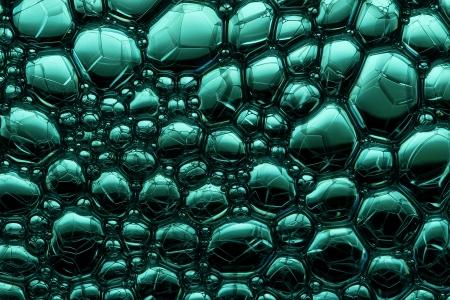 soap bubbles: Seifenblasen auf gr�n-schwarze Wasser Lizenzfreie Bilder