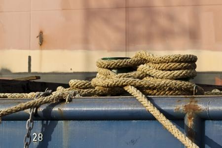 Mooring bollard on the coast Stock Photo - 17696989