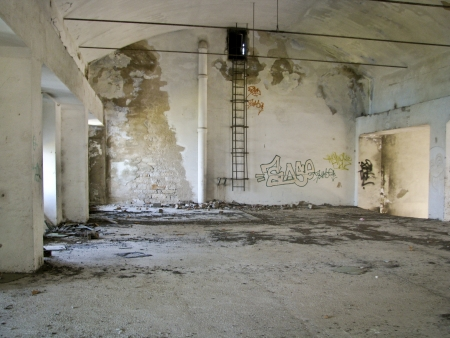 cast off: Old deserted building interior