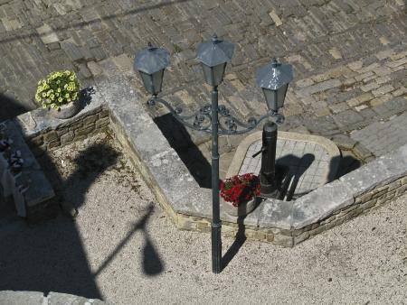 Stonepaved square in Motovun photo
