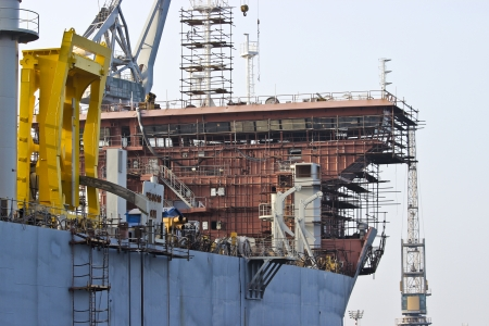 Building a tanker in the shipyard Stock Photo - 17689814