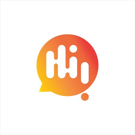 simple greeting bubble talk communication logo. technology or message icon template