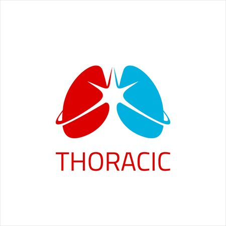 simple vector with iconic lungs for thoracic medical  design inspiration