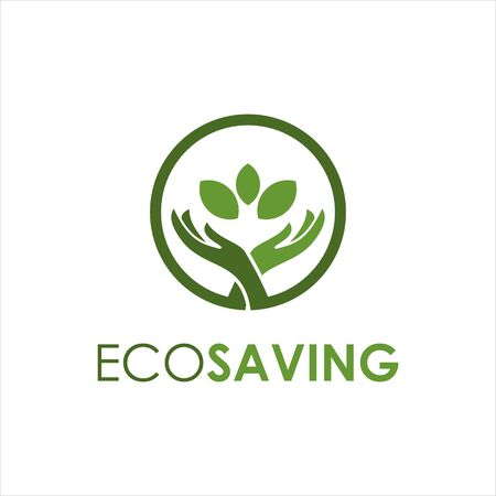 simple round Environmental, Social, and Governance saving and invest logo design template idea