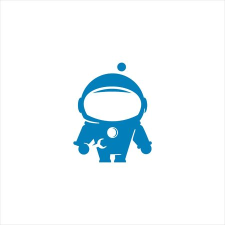simple modern astronaut illustration mascot for aerospace mechanic design element or sticker inspiration