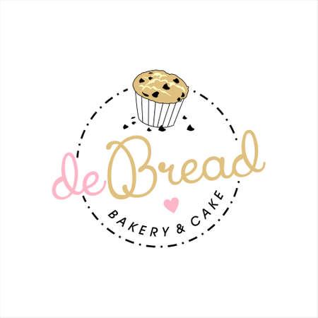 simple label bakery logo badge template. organic bread shop vector design inspiration Illusztráció