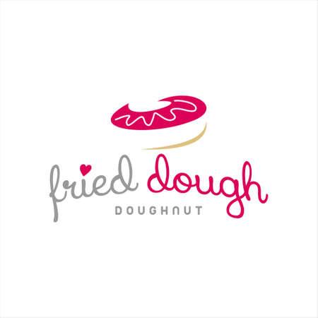 doughnut shop logo simple label bakery badge template. organic vector design inspiration