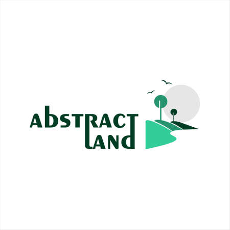 simple modern landscape logo rectangle style best for nature icon design template idea