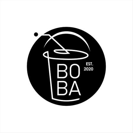 milk tea  pearl fresh drink vector. food and drink template. sticker or print art design ideas