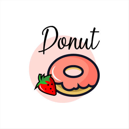 Donuts bakery vector graphic doodle art food design template