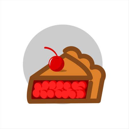 apple pie vector slice illustration sweet dessert bakery and pastry design element template