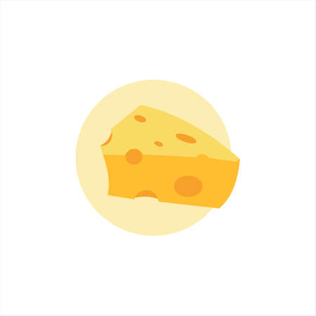 cheese vector yellow cheddar dairy milk food lice culinary icon bakery design template