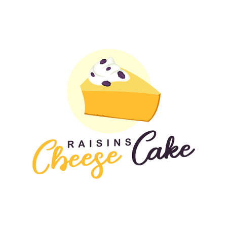 cheese cake logo bakery vector art for pastry industry and shop food design template