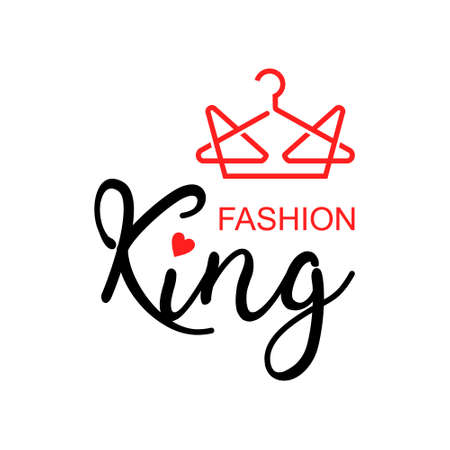 fashion logo with crown vector for apparel industry design template idea