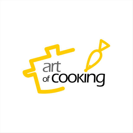 catering and cooking logo design template. food and drink vector graphic text inspiration