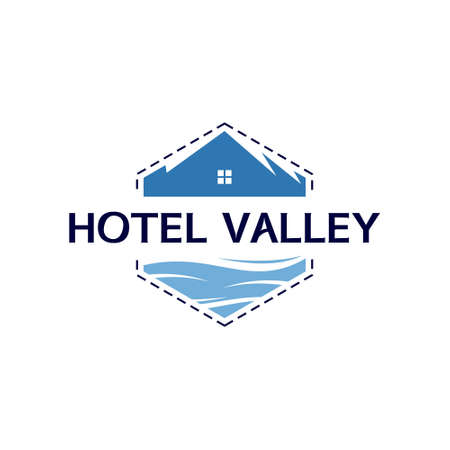 hotel logo design badge emblem home. tourism and recreation vector template inspiration