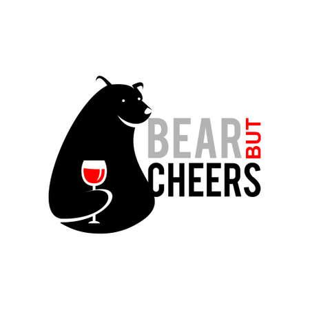 bear logo design playful print idea. animal or trading market vector template inspiration