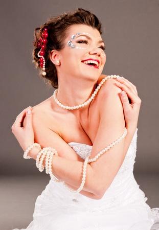 Russian girl happy photo