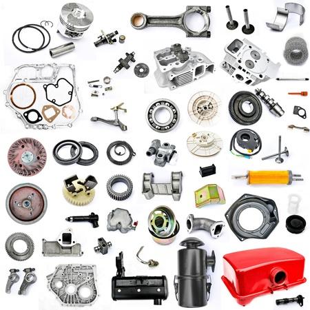 Ersatzteile in zerlegter Form, Benziner, Bodenbearbeitung, kleiner Traktor, Hand Pflug, Mechanik